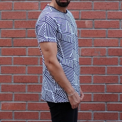 Men's Crew Neck Striped T-Shirt Black&White MV T-shirt Collection - 1