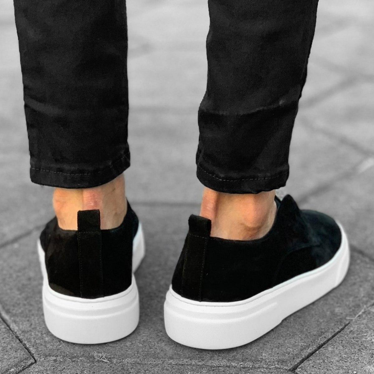 Premium Leather Suede Zipper Black-White Mv Premium Brand - 3