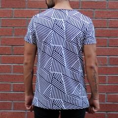 Men's Crew Neck Striped T-Shirt Black&White MV T-shirt Collection - 3