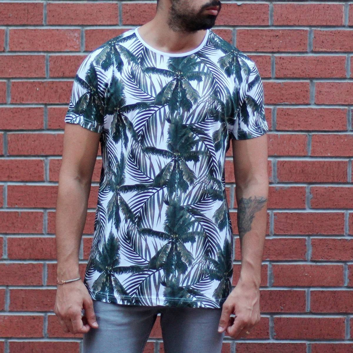 Men's Tree Print Round Neck T-Shirt MV T-shirt Collection - 1