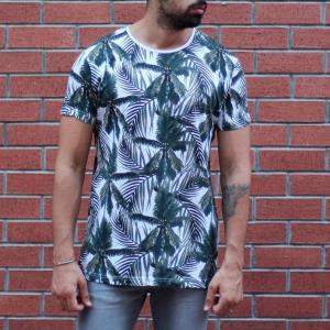 Men's Tree Print Round Neck T-Shirt MV T-shirt Collection - 1