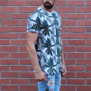Men's Tree Print Round Neck T-Shirt MV T-shirt Collection - 2