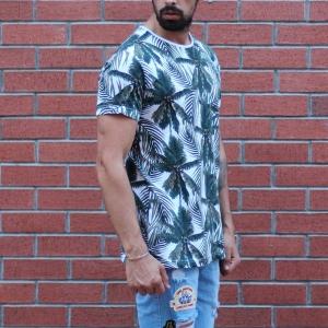 Men's Tree Print Round Neck T-Shirt MV T-shirt Collection - 2