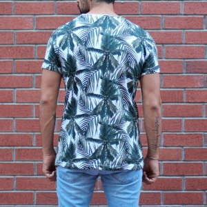 Men's Tree Print Round Neck T-Shirt MV T-shirt Collection - 3