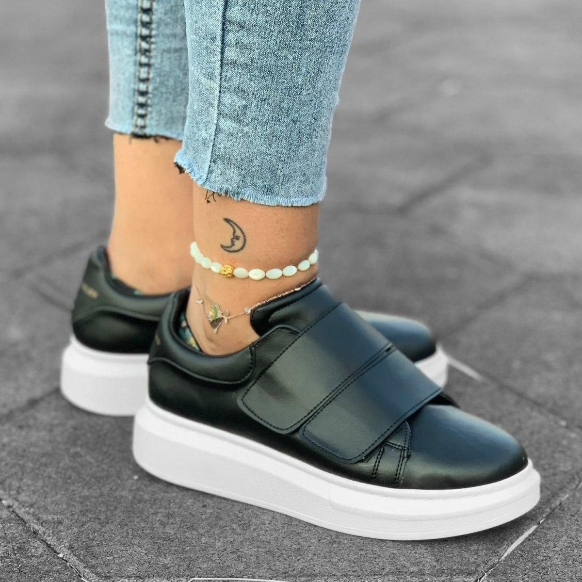 Martin Valen Women's Double Velcro Sneakers Black