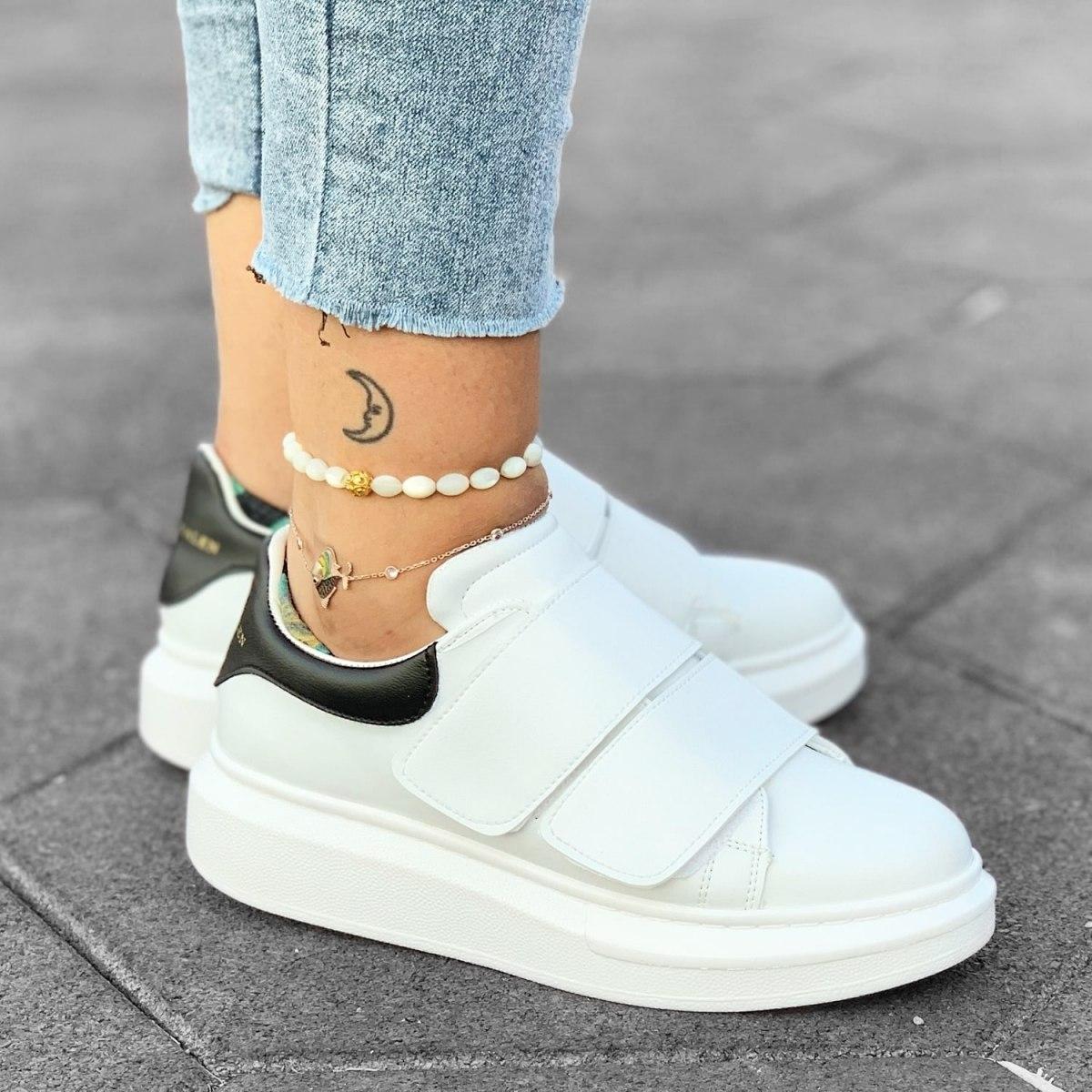 Martin Valen Women's Double Velcro Sneakers White