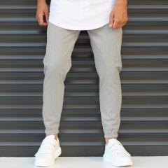 Men's Basic Elasticated Sport Pants Solid Gray Mv Premium Brand - 2