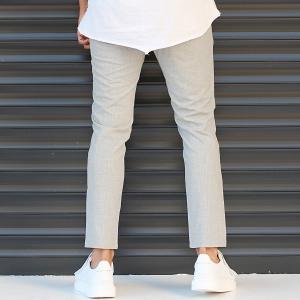 Men's Slim Fit Lycra Sport Pants Cream Mv Premium Brand - 5