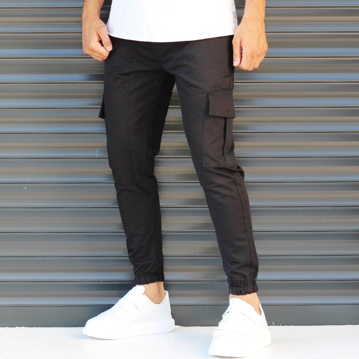 Men's Sport Pants With Side Pockets Black Mv Premium Brand - 3