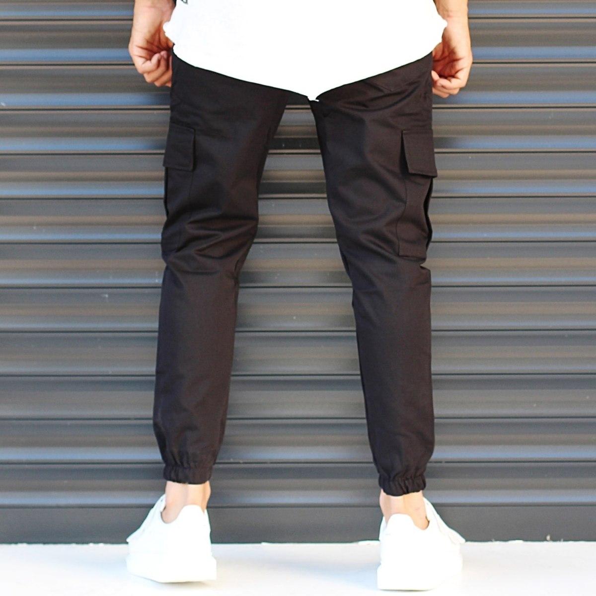 Men's Sport Pants With Side Pockets Black Mv Premium Brand - 4
