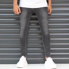 Men's Skinny Sport Jeans In Pale Black Mv Premium Brand - 1