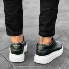 Slip-on Sneakers in Black-White Mv Premium Brand - 8