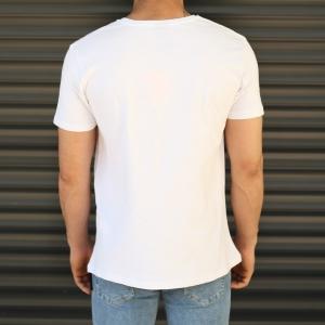 Men's Rocky Balboa Printed Fit T-Shirt In White Mv Premium Brand - 3