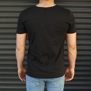 Men's Rocky Balboa Printed Fit T-Shirt In Black Mv Premium Brand - 4