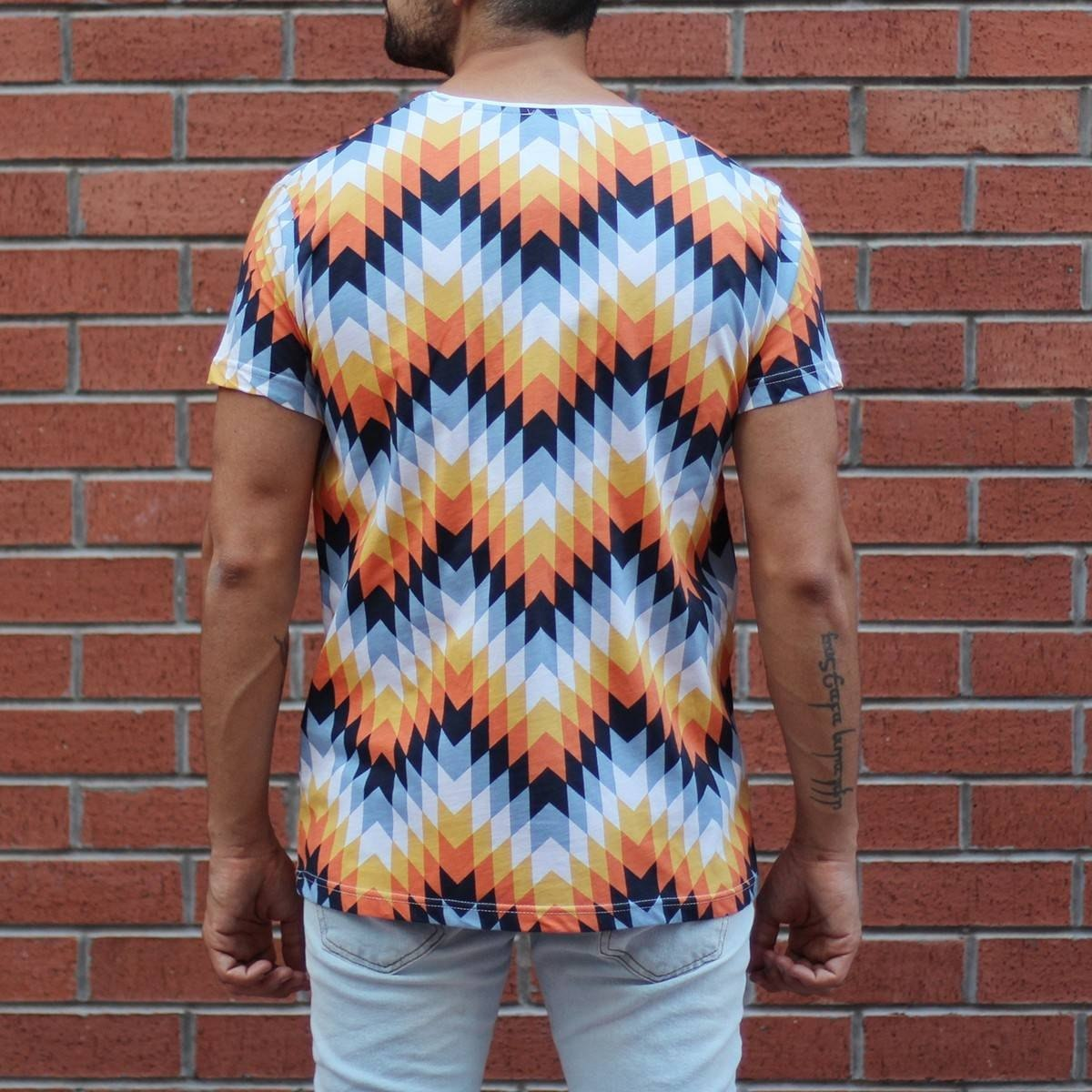 Men's Geometric Colored...