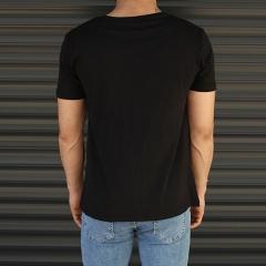 Men's Sporty Panda Printed Fit T-Shirt In Black Mv Premium Brand - 3