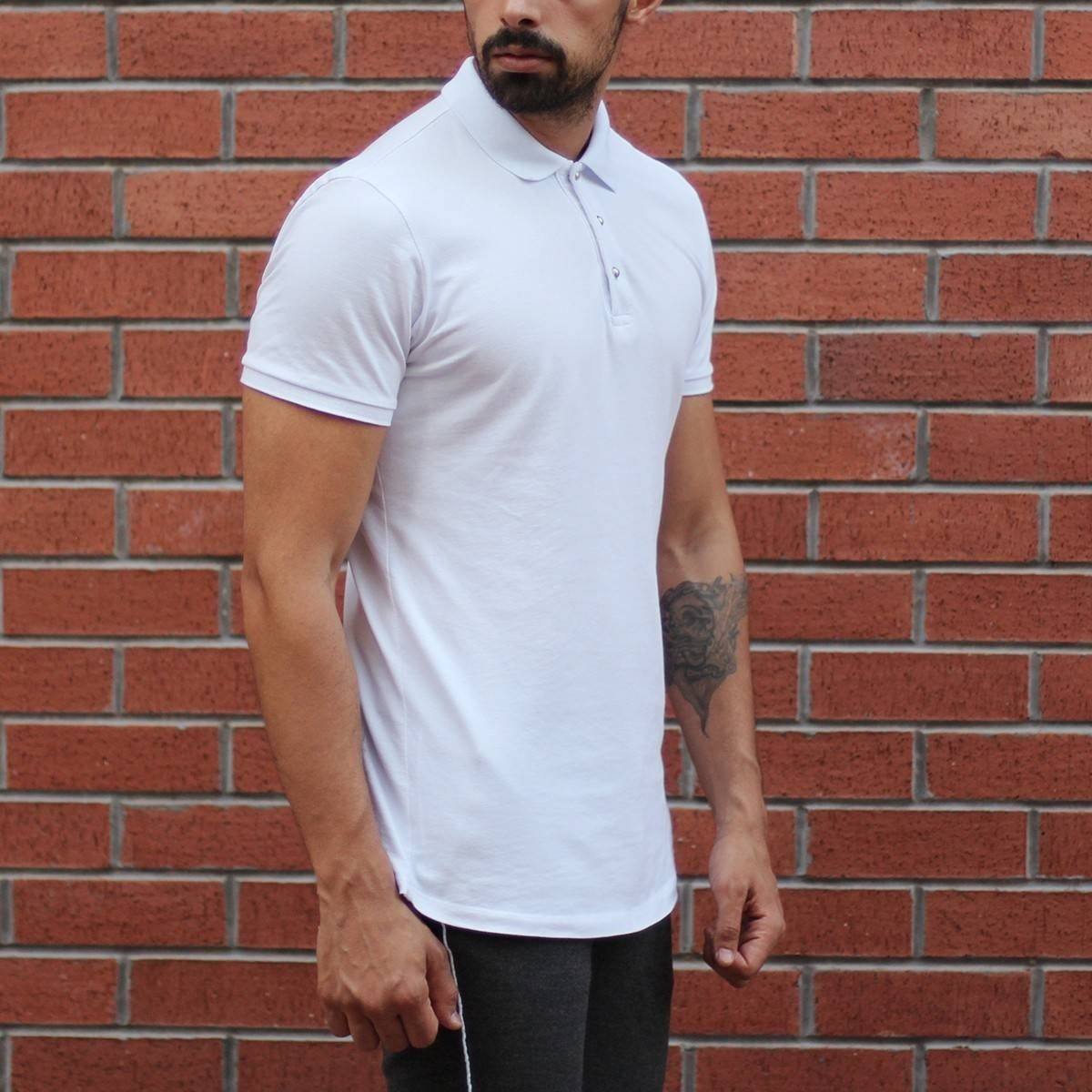 Men's Button Neck Slim Fit...