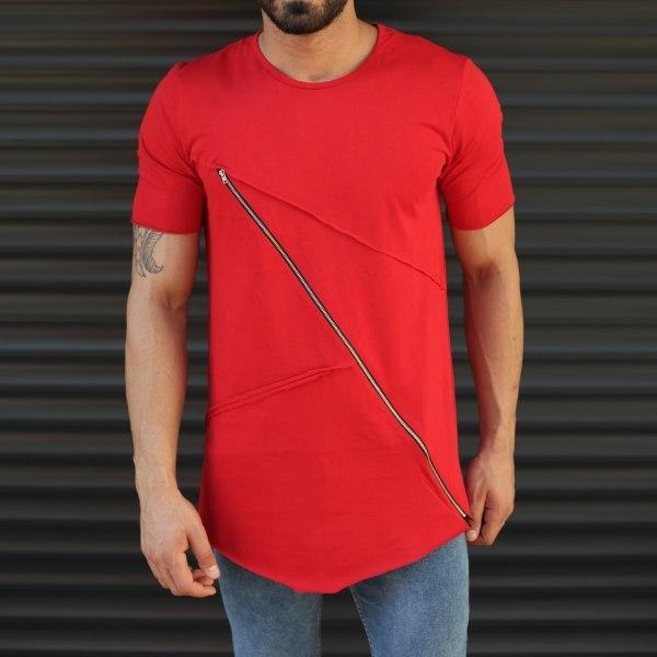 Men's Fitted Cross Zipper...