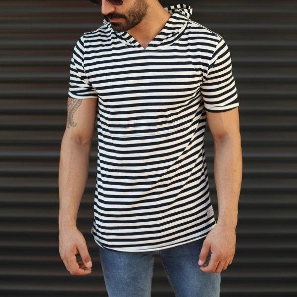 Men's Hooded Longline Zebra...
