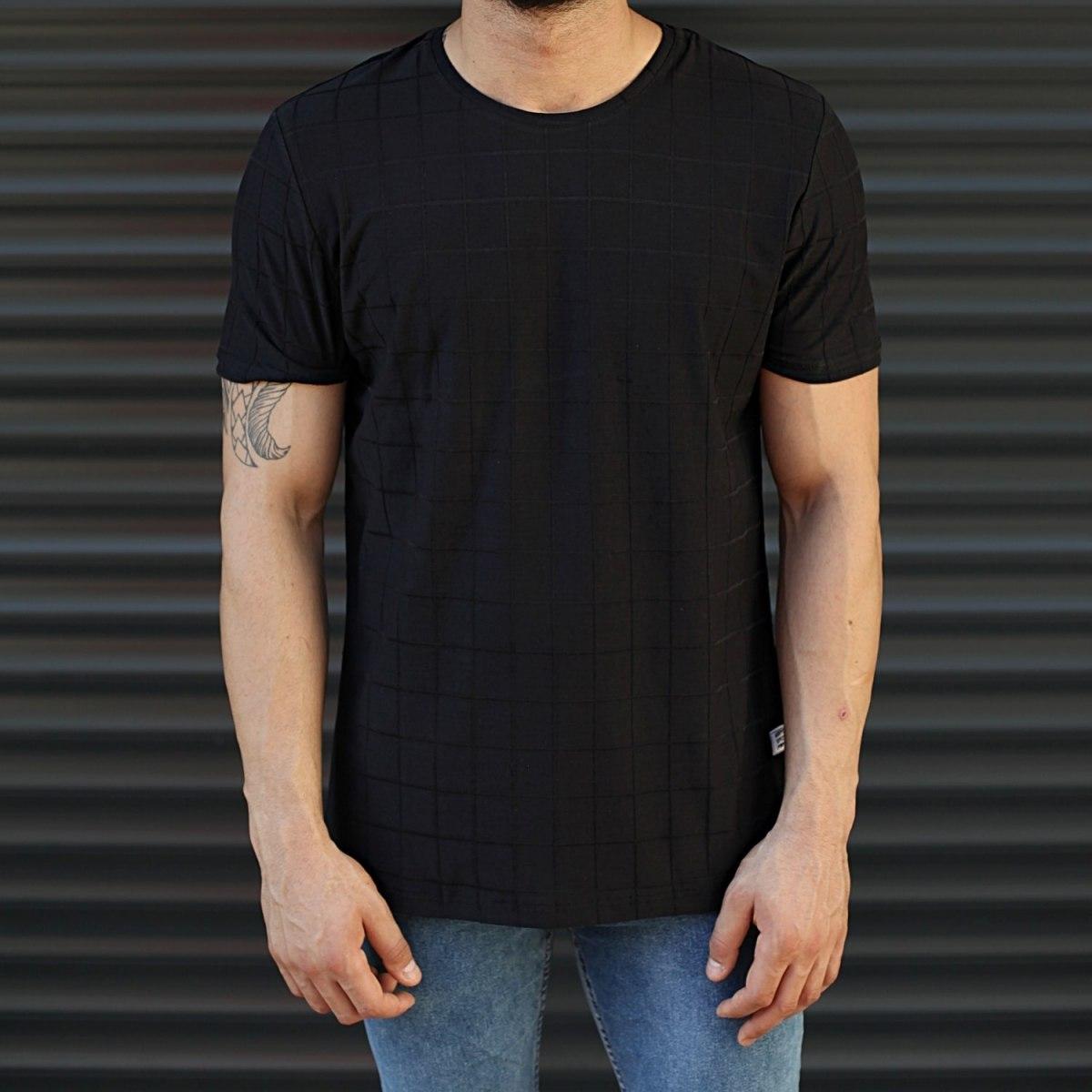 Men's Longline Muscle Fit T-Shirt In Black