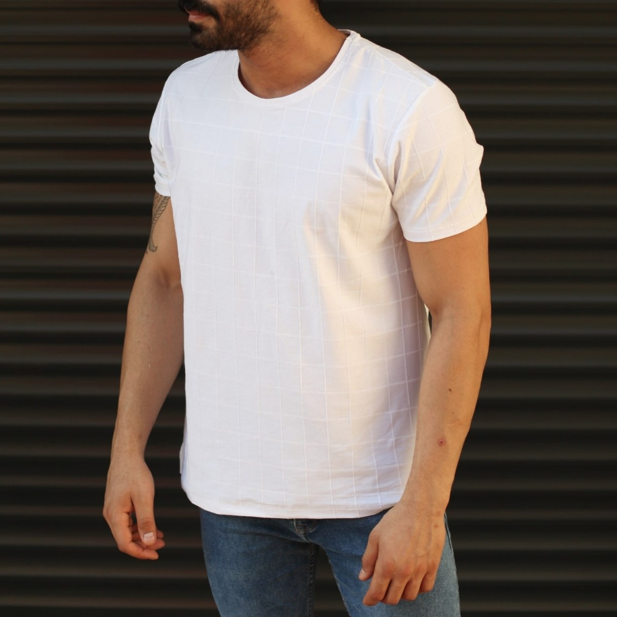 Men's New Look Slim Fit Basic T-Shirt In White Mv Premium Brand - 1