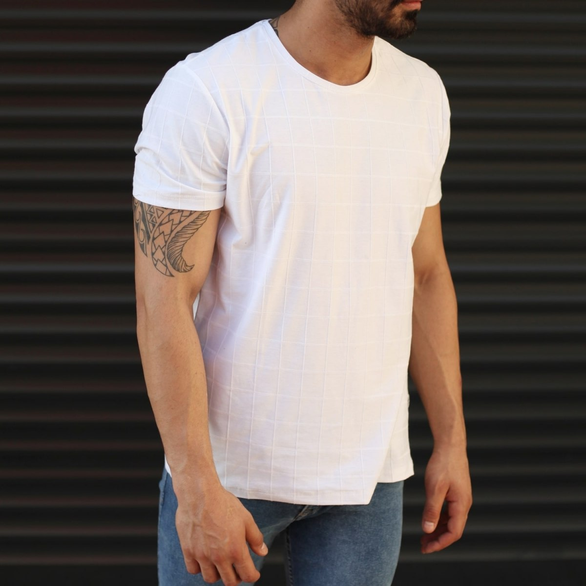 Men's New Look Slim Fit Basic T-Shirt In White Mv Premium Brand - 2