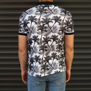 Men's Fresh Palm Pattern Polo T-Shirt Mv Premium Brand - 2