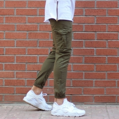 Men's Skinny Cargo Pants In Khaki MV Jeans Collection - 2
