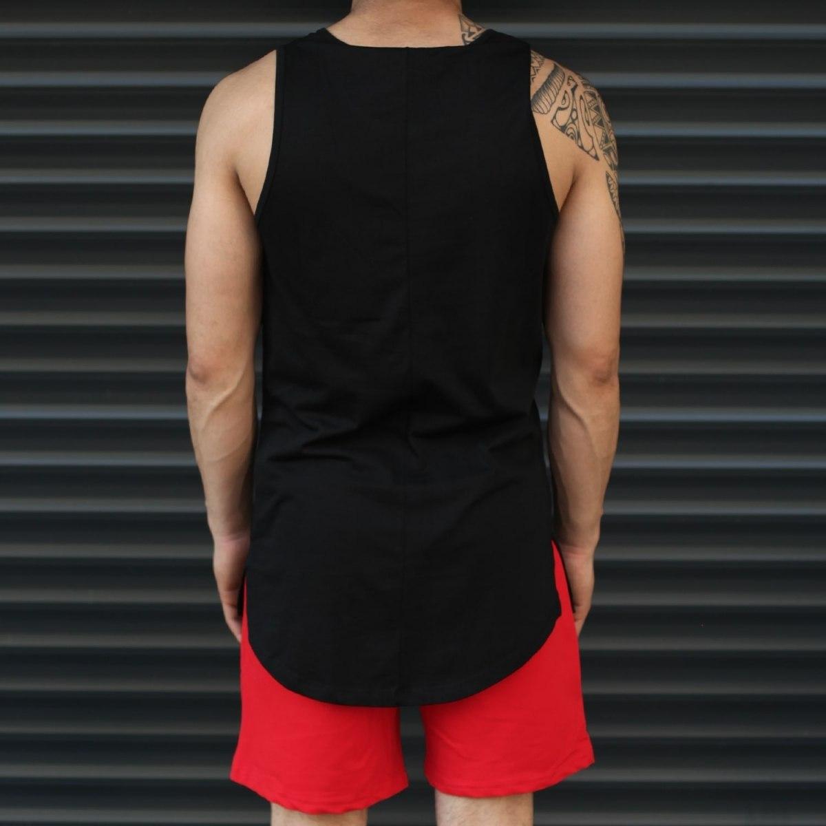 Men's Athletic Sleeveless Tall Tank Top Black Mv Premium Brand - 3
