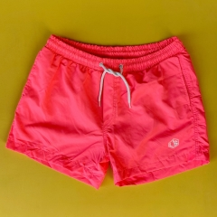 Men's Basic Short Swim Shorts With Back Pockets Pink Mv Premium Brand - 1