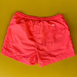 Men's Basic Short Swim Shorts With Back Pockets Pink Mv Premium Brand - 2