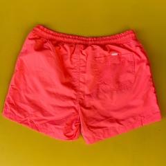 Men's Basic Short Swim Shorts With Back Pockets Pink Mv Premium Brand - 2