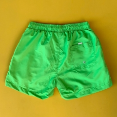 Men's Basic Short Swim Shorts With Back Pockets Green Mv Premium Brand - 1