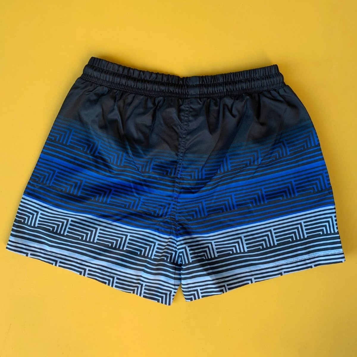 Men's Striped Triple Color Pattern Short Swim Shorts Mv Premium Brand - 1