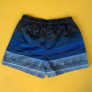 Men's Striped Triple Color Pattern Short Swim Shorts Mv Premium Brand - 1
