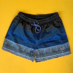 Men's Striped Triple Color Pattern Short Swim Shorts Mv Premium Brand - 2