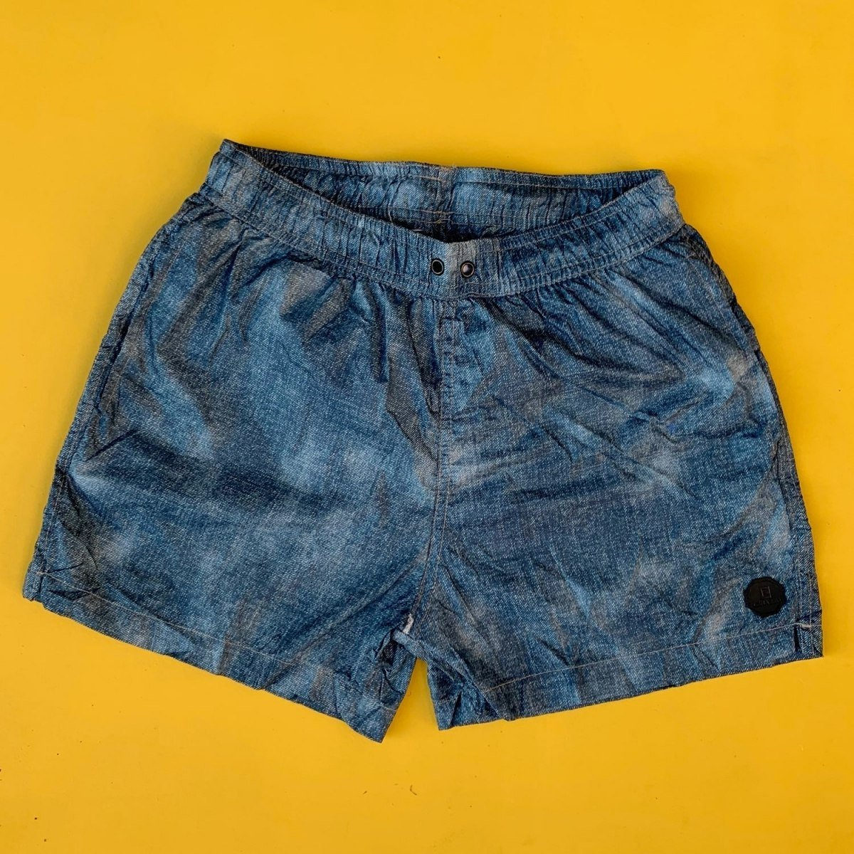 Men's Denim Design Basic Short Swim Shorts Petrol Blue