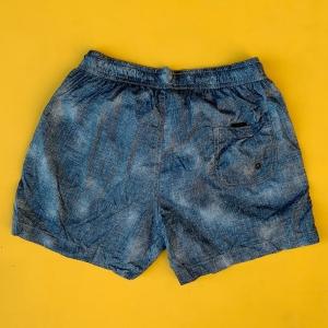 Men's Denim Design Basic Short Swim Shorts Petrol Blue Mv Premium Brand - 2