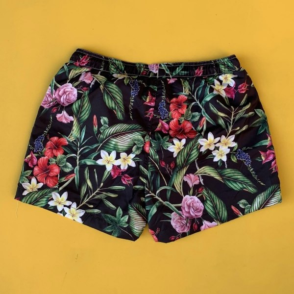 Men's Floral Leaf Patterned...