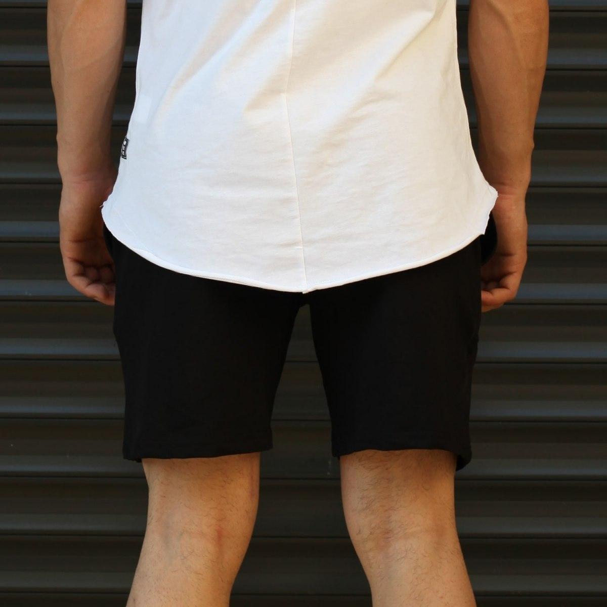 Men's Basic Fleece Sport Shorts In Black Mv Premium Brand - 4