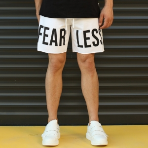 Men's Fearless Fleece Sport Shorts White Mv Premium Brand - 2