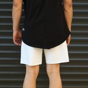 Men's Fearless Fleece Sport Shorts White Mv Premium Brand - 4
