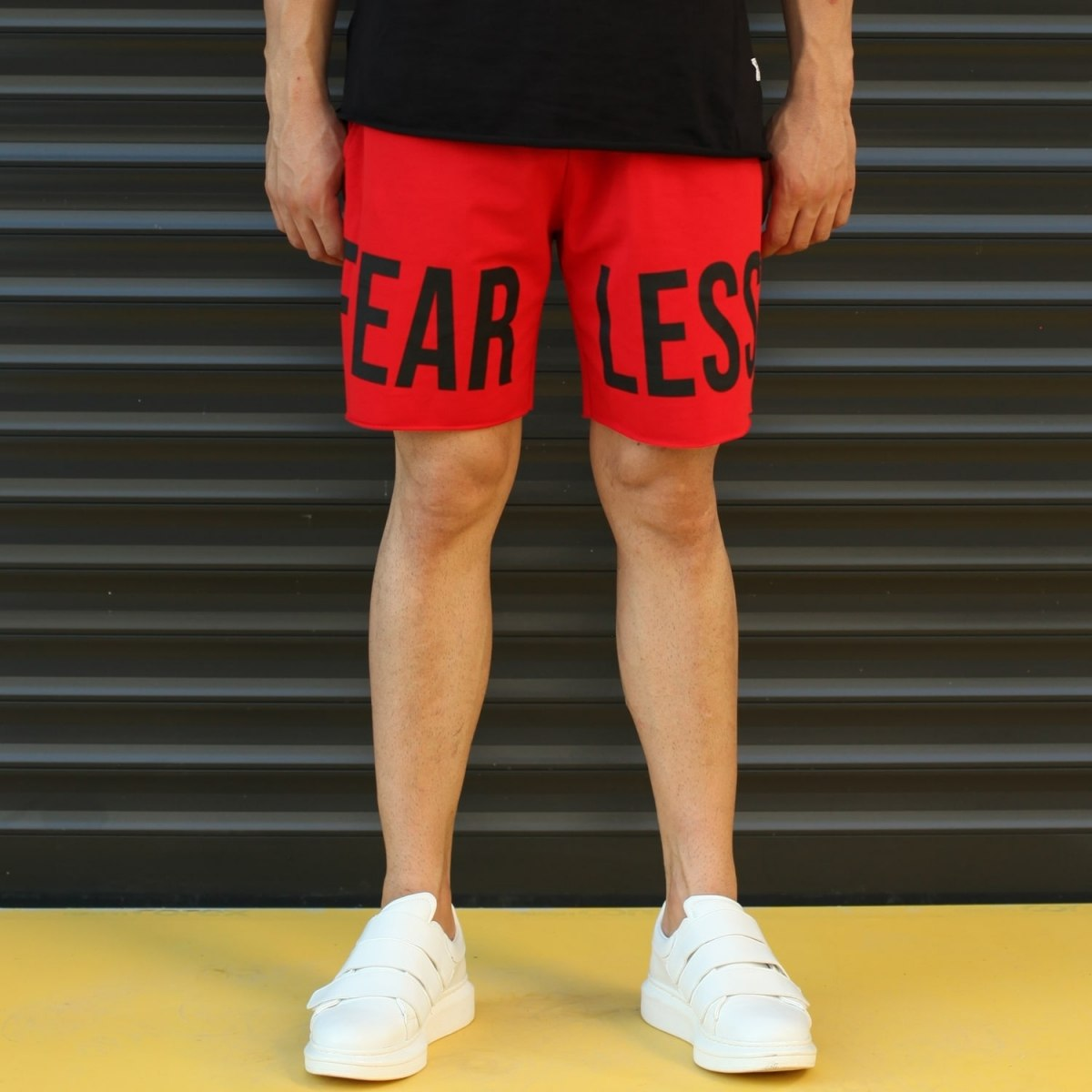 Men's Fearless Fleece Sport Shorts Red