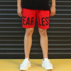 Men's Fearless Fleece Sport Shorts Red Mv Premium Brand - 1