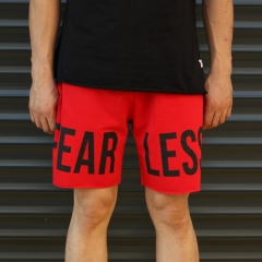 Men's Fearless Fleece Sport Shorts Red Mv Premium Brand - 2