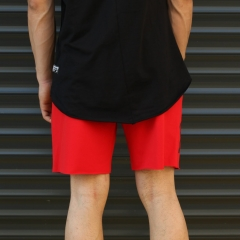 Men's Fearless Fleece Sport Shorts Red Mv Premium Brand - 4