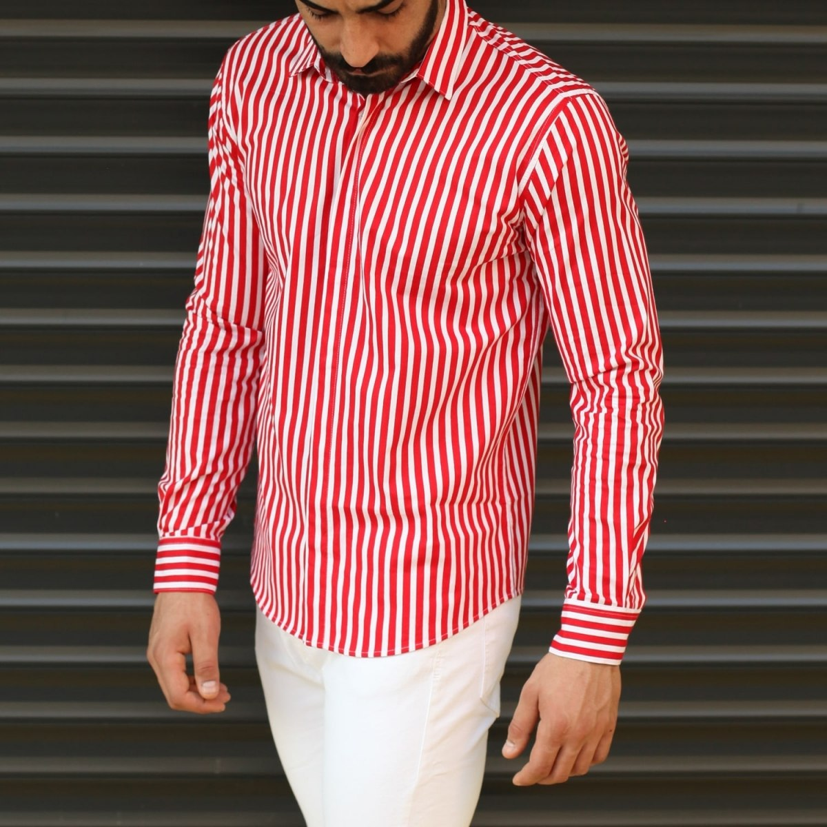 Men's Striped Slim Fit...