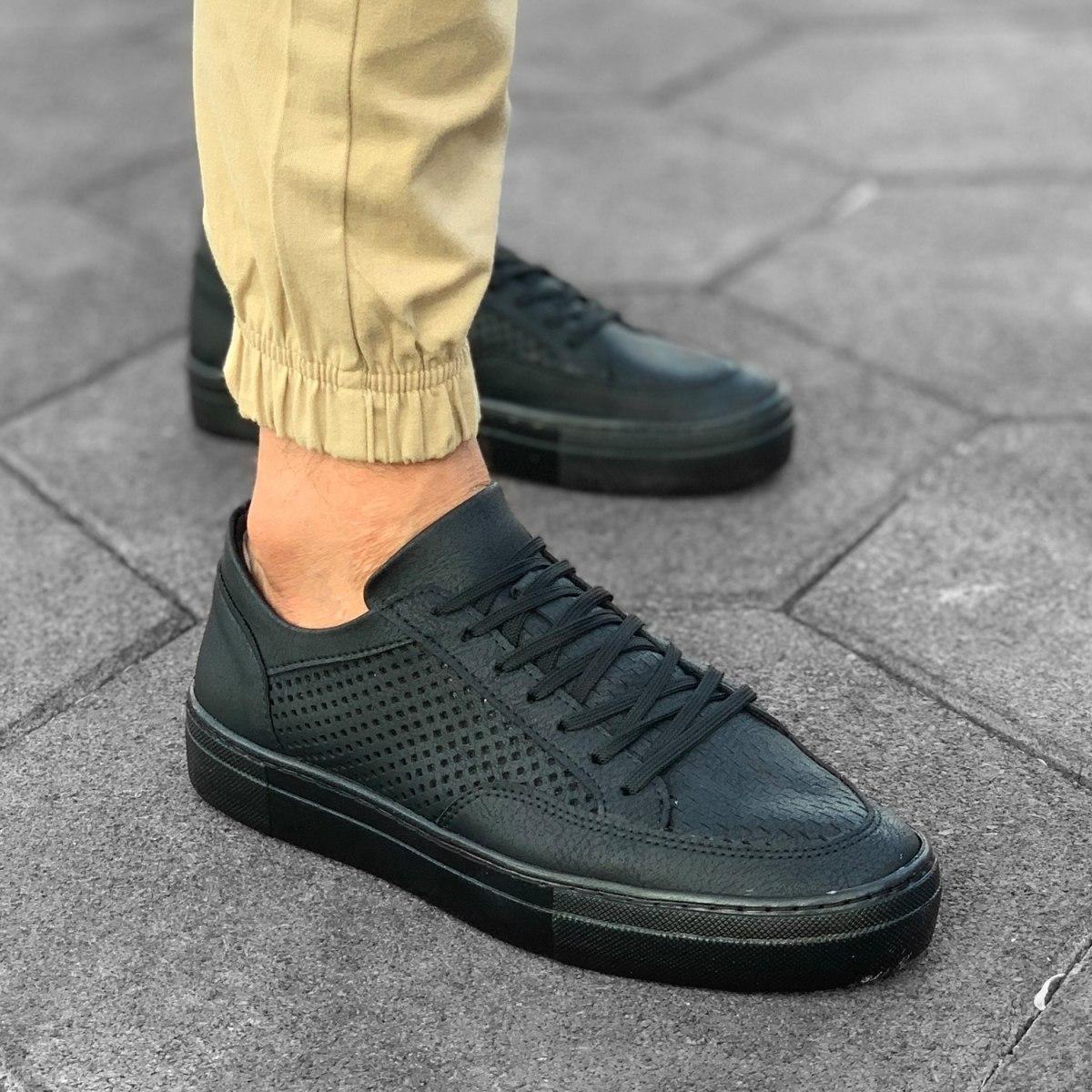 Herren Plexus Sneakers In Schwarz Mv Premium Brand - 1