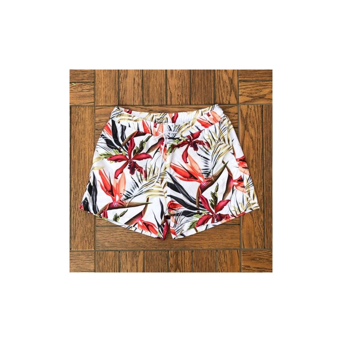 Men's Swim Shorts With Colored Print Light