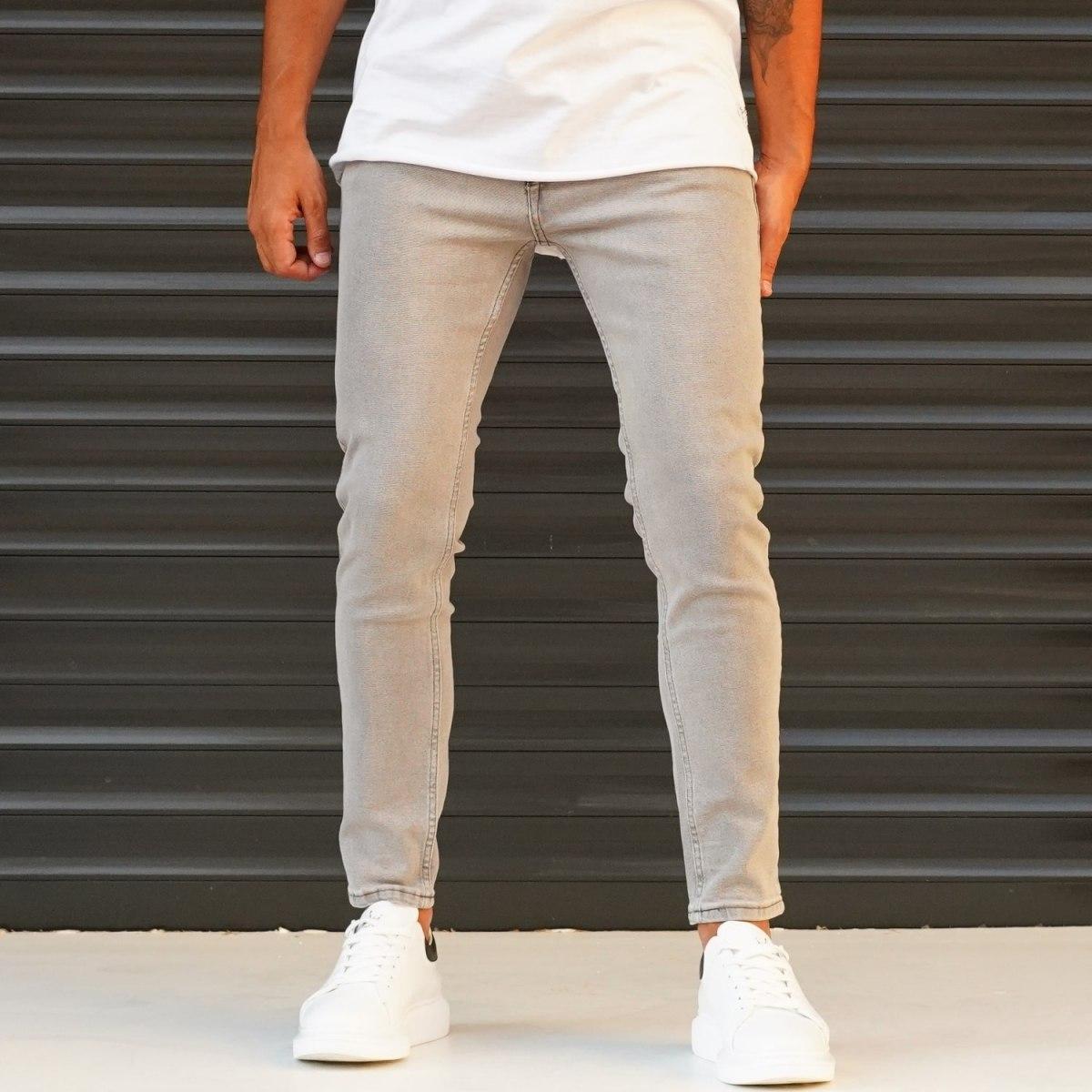Men's  Jeans With Lycra In Beige